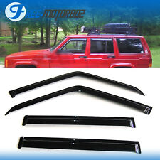 For 84-01 Jeep Cherokee 4Door Vent Window Shade Visors Rain Guard