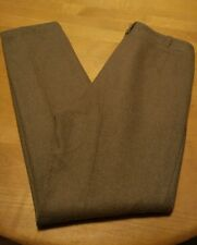 Heavy Wool Military Pleated Mens Pants 30x31 Green Vintage 1977 Missing A Button