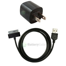 USB Black Home Wall AC Charger+Cable Data Sync for Apple iPod Touch 1G 2G 3G 4G