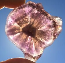 "AWESOME AURALITE 23 POLISHED CRYSTAL ""SLICE""! Ajoite Quartz Amethyst Super Seven"