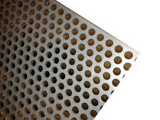 """PVC Type I Perforated Sheet, 3/16"""" Thick x 24"""" x 24"""", 3/8"""" Dia Hole, Staggered"""