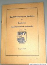 German Model railway Association the DDR Rules of procedure Guidelines 1969 å
