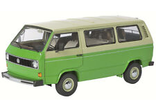 1979-1990 VOLKSWAGEN T3 BUS GREEN/BEIGE 1/18 DIECAST MODEL CAR SCHUCO 450038000