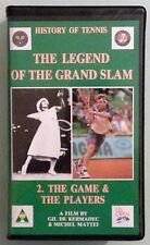 history tennis legend of the grand slam #2 THE GAME THE PLAYERS  VHS VIDEOTAPE