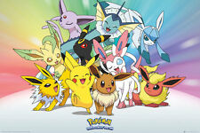 POKEMON Poster - EEVEE Gotta Catch 'em All - New Pokemon gaming poster FP4361
