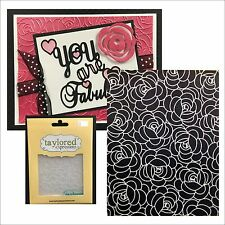 ROSY POSEY embossing folder TEEF47 Taylored Expressions roses embossing folders