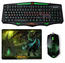 SUNT AK93 Green-Ray Waterproof Backlit Gaming Keyboard + 6D Usb Gaming Mouse SET