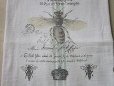 ~QUEEN Bee French BEE Abeille Flour Sack Kitchen Towel Dish Towel~