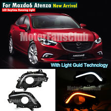 LED Daytime Running Light For Mazda 6 Atenza Fog DRL 2013 2014 Turn Signal #ZGD