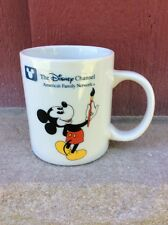 VINTAGE NOS COFFEE MUG #022- The Disney Channel Mickey Mouse
