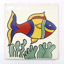 Comercio Justo Hecho a Mano azulejos de cerámica Talavera Mexicana - 'Felix' (T12860-6)