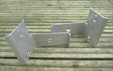 Land Rover Series 2 2a 3 Rear Axle Stainless Brake Pipe Mount Shields NRC7314/5