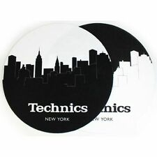 Slipmat Factory Technics New York Skyline Slipmats (black & white, pair)