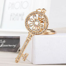 BNWT - Ship wheel top w/ White Rhinestones - Large Gold Keyring / Bag Clasp
