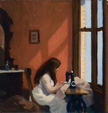 Girl at Sewing Machine  by Edward Hopper   Giclee Canvas Print Repro
