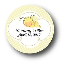 30 Mommy to Bee Personalized Baby Shower Invitation Favor Stickers - Bumble Bee