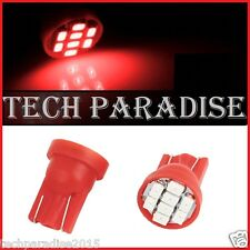 4x Ampoule T10 / W5W / W3W LED 8 SMD 1206 Rouge Red veilleuse lampe light 12V