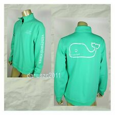 $125 VINEYARD VINES MEN'S GRAPHIC GREEN 1/4 ZIP WHALE SWEATSHIRT JACKET SIZE XL