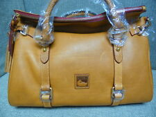 Dooney & Bourke Florentine Satchel Tan Leather Handbag 8L940