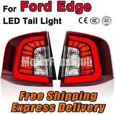 New Pair LED Rear Brake Tail Lamp Light Red Clear For Ford Edge 11 12 13 14 15