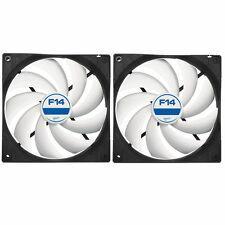 2 X Pack Arctic refrigeración F14 140mm Case Fan 1300 Rpm