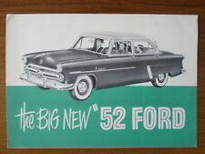 FORD orig 1952 Canadian Mkt sales brochure - Mainline Customline Victoria Tudor