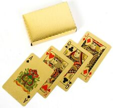 Brand New Imported Golden Foil Playing Cards - Collective Gift Item