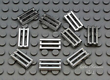 NEW 10 Lego 1x2 CHROME SILVER BAR TILE Car Truck Vehicle Engine Grill/Fire Grate