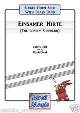 EINSAMER HIRTE - Flugel Horn Solo - Brass Band Music Score and Parts *NEW*