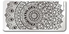 Rectangle DIY Manicure Nail Art Stamp Template Image Plate Floral BPX-L003