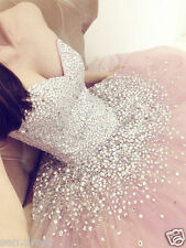 Custom Sparkle Quinceanera Dress Pink Ball Gown Long Prom Formal Gowns