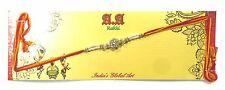 Rakhi Bracelet / Rakhi Thread  Flower Made of Stone on Gold Setting