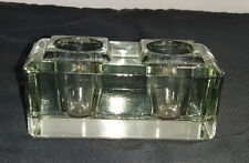 A Two Sconce Glass Diner/Taper Candle Holder
