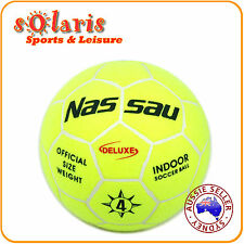 NASSAU DELUXE OFFICIAL SIZE 4 INDOOR SOCCER BALL 32-PANEL MOLDED FELT COVER
