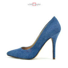 Women Classic Pointy Toe Leatherette High Heel Office Wedding Party Pump Date