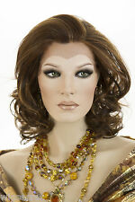 Glamorous Premium Qlt Medium Length Lace Front Straight / Wavy Heat Resist Wigs