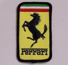 VINTAGE FERRARI EMBROIDERED PATCH WOVEN CLOTH BADGE SEW-ON JACKET RACING TEAM