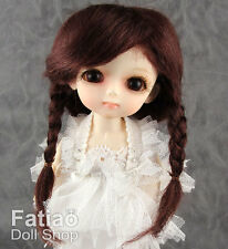 "Fatiao - New Dollfie Lati Yellow Pukifee 5-6"" Mohair Doll Wig - Dark Brown"