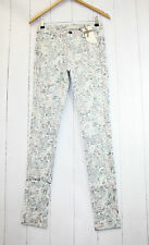 Cream Hose Laney Pants Gr 40  Stretch  Blumen  Print  Neu