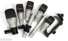 New Samson DK7 7KIT 7 Piece Drum Microphone System 7-Kit Mic Bundle Package