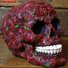 Latex Rubber Mould Mold Molds skull made up of many small Roses