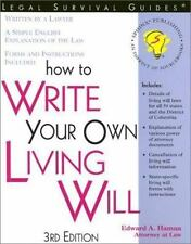 How to Write Your Own Living Will by Edward A. Haman (2002, Paperback)