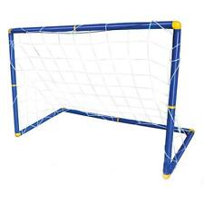 Portable Mini Football Soccer Goal Post Net Set Pump Indoor Outdooor Kids Toy