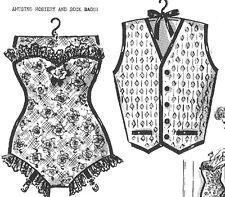 Vintage Clothes Pin Bag PATTERN 5993 Ladies Corset & Men's Vest 1940s