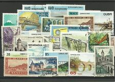 "Lot timbres thematique "" Les ponts"""