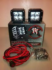 RIGID Industries Dually FLOOD PAIR 2 LED Light UTV 20211 **FREE** Light Covers