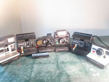 6 Polaroid Cameras all Tested and work  600 sx-70 white rainbow  and flash