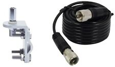 NEW RG58 18FT COAX CABLE,RV1 MIRROR MOUNT COMBO KIT CB,HAM,SCANNER ANTENNA