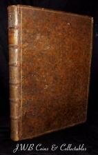 Very Old Rare Book Dated 1727 Tables Of Ancient Coins, Weights and Measurements