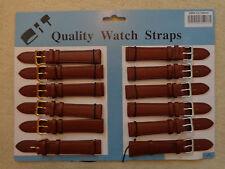 Watch Strap Gents ladies Leather Brown 18mm WRIST WATCH STRAP NEW